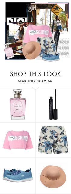 """""""December 21st, 2015 - Dara Park"""" by thesparklingunicorn ❤ liked on Polyvore featuring Christian Dior, Smashbox, Moschino, ONLY and Skechers"""
