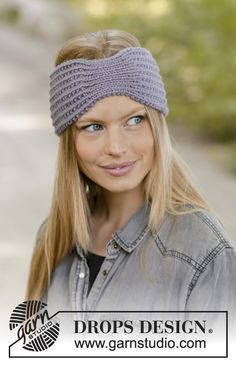Lavender meeting / DROPS - free knitting patterns by DROPS design . Lavender meeting / DROPS - free knitting patterns by DROPS design Knitting Blogs, Knitting Patterns Free, Free Knitting, Crochet Patterns, How To Start Knitting, Knitting For Beginners, Drops Design, Knitted Headband Free Pattern, Knit Crochet