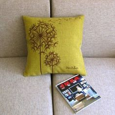 Fly Dandelion Yellow Green Home Decor Pillow Case Cushion Cover Square 18