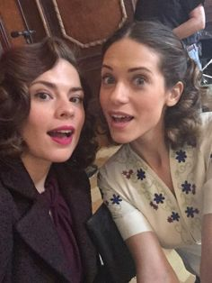 Hayley Atwell, Lyndsy Fonseca || Twitter || #cast #bts