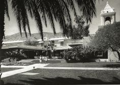 Mid 1940s, El Mirador Hotel, Palm Springs, Riverside County, California. Palm Springs Style, Old Commercials, Riverside County, Coachella Valley, Great Memories, Spas, Archaeology, Resorts, 1940s