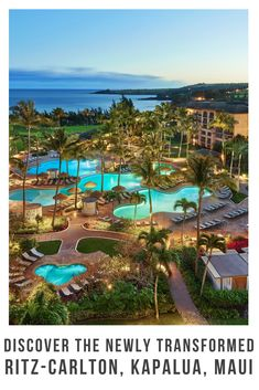 Immersing guests in an authentic Hawaiian experience deeply rooted in local culture & environmental adventure: The Ritz-Carlton Kapalua, Maui Trip To Maui, Hawaii Vacation, Maui Hawaii, Kauai, Best Hotels In Maui, Best Resorts, Top Hotels, Luxury Hotels, Maui Honeymoon