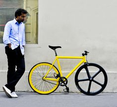 #yellow #black #fixie