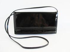 Vintage Crossbody Bag  Evening Bag  Patent by funkyvintage780