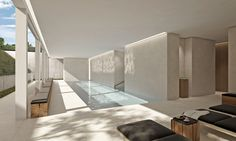 Private spa in a residence in Luxemburg by Marc Merckx Interiors
