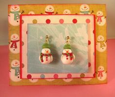 madimaginations: Tutorial - Fimo Snowmen Earrings