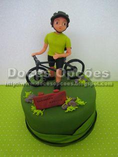 Doces Opções: Bolo ciclista