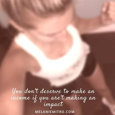 You don't deserve to make an income if you aren't making an impact. Call it harsh call it what you want but it's how I feel and I believe that it is my job to inspire others to live their life to the fullest.  It doesn't have to be health and fitness related and I certainly don't think that the only career is BeachBody coaching! I believe that everyone has a gift and you should not let fear hold you back from blessing others with your talents!!! Have you made an impact today!? What can you…