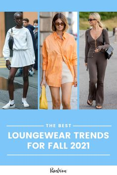 Here are three new loungewear trends we can't wait to try out, plus one we plan to stow away for the season. #fall #loungewear #fashion Chic Fall Fashion, Fall Fashion Trends, Coffee With Friends, Sports Skirts, Ribbed Cardigan, Tennis Clothes, Pleated Mini Skirt, Shearling Jacket, Sports Leggings