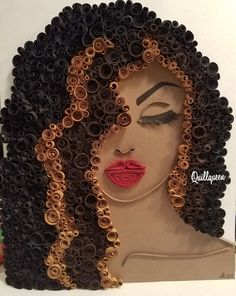 Her name is Zane and she is 9 x 12 and comes in a 12 x 12 black shadowbox frame with your choice of back splash color. Quilling Designs, Paper Quilling, Black Art Painting, Natural Hair Art, Salon Art, Black Love Art, Nyc Art, Found Object Art, Afro Art