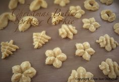 SCD Christmas Butter Spritz Cookies (*Substitute honey for agave nectar & use vanilla extract option...)