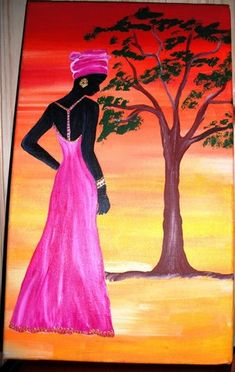 Afrique Art, African Art Paintings, Afro Art, Mural Art, Beautiful Paintings, Painting Inspiration, Collage Art, Bunt, Art Drawings