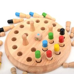 Kids Wooden Memory Match Stick Chess Game Educational Toys Gift Wood toy Toys for children Kids Party Games, Fun Games, Aggravation Board Game, Puzzle Board Games, Wooden Educational Toys, Memory Games, Wooden Puzzles, 3d Puzzles, Table Games