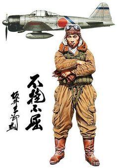 """Mitsubishi A6M Zero """"Zeke"""" Saburo Sakai"""