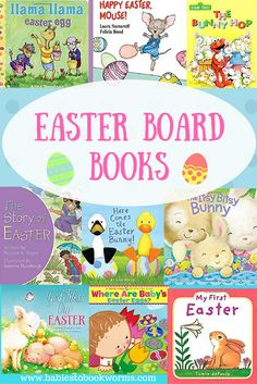 Get the youngest bookworms in your family excited for Easter with these fantastic Easter board books!   Easter Books | Kid Books for Easter | Non Candy Easter Basket Ideas