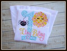 Itsy Bitsy Spider Shirt  Birthday Shirt by JillysMomMadeThat