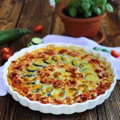 Polenta, Zucchini, Pie, Breakfast, Desserts, Food, Tomatoes, Food Portions, Easy Meals