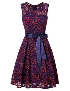 Special Offer: $27.99 amazon.com Women Vintage Scoop Neck Sleeveless Floral Lace Cocktail Evening Dress WARM TIPS:Please check the size chart as below carefully before you buy the item. Size S:Total Length: 35.88 inch,Bust: 33.93 inch,Waist: 27.69 inch, Shoulder Length: 15.21 inch Size...
