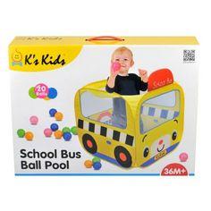 Iskolabusz játszósátor, színes labdákkal - Ks Kids - eMAG.hu