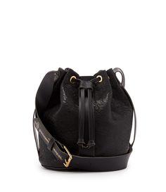 VIVIENNE WESTWOOD Black Bondage Bag 7226. #viviennewestwood #bags #shoulder bags #leather #