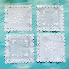 A personal favorite from my Etsy shop https://www.etsy.com/listing/464944249/lace-vinyl-doilies-set-of-4-lace-doilies