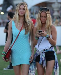 d437b37757b7 Whitney Port looking fresh in her body con tank dress for Coachella which  she paired with a cross-body bag and sandals