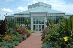 The Orchid Conservatory at the @Daniel Stowe Botanical Garden, near Charlotte, North Carolina, maintains a tropical environment, and exotic plants, all year long.