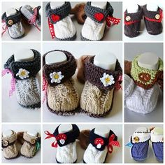 Strick- & Häkelschuhe - Ein Paar Babyschuhe Tracht Wunschgestaltung - ein Designerstück von strickliene bei DaWanda