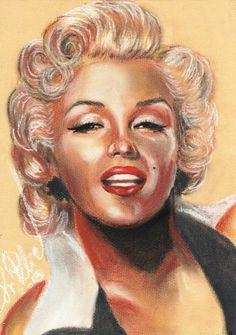 Marilyn Monroe by svetliaciok  | This image first pinned to Marilyn Monroe Art board, here: http://pinterest.com/fairbanksgrafix/marilyn-monroe-art/ || #Art #MarilynMonroe