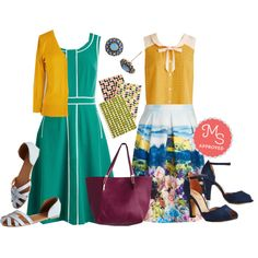 Roving Reporter Dress, Charter School Cardigan, Fashionably Elate Top, Meadow? Anyone There? Skirt, Spring in Your Pep Flat, Scallop Your Alley Heel, Simple Sparkle Earrings, Minimal Tote of Confidence Bag, Take Note For An Answer Notebook Set #classic #boldcolor #fashion #spring #outfits #ootd #trendingnow #ModCloth #ModStylist