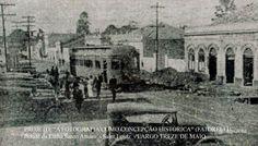 O primeiro bonde elétrico de São Paulo em 7 de maio de 1900, linha Santo Amaro…