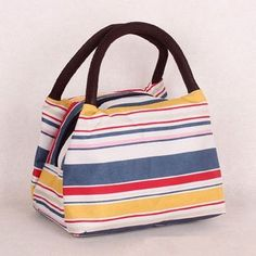 Hanup 2016 Fashion Japan and Korean Style Women Handbags Character Striped Print bag Polyester leather lunch Totes makeup bag