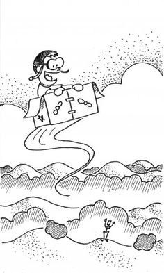 """""""Flight in a Box"""" - Andrew's lunchbox doodle and poem for January 2013 Magic Box, Poems, January, Lunch Box, Doodles, Snoopy, Crafts, Fictional Characters, Art"""