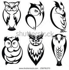 owl silhouette tattoo - Google Search