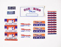 paper pastries: RSVP Mailing No. 1 - Vintage Airmail Labels.