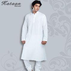 Long Sleeved White Kurta Churidar