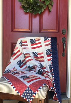 75a83d8469f5 Patriotic Quilt Handmade Patriotic Baby Quilt  Minky Baby Blanket Patriotic  Throw with Minky Quilt BabyGift Handmade Quilt Patriotic Decor