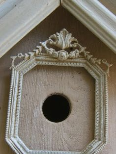 Picture frame around entrance of birdhouse lol
