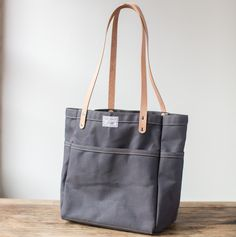 Artifact Bag Co. - Campus Tote in slate canvas