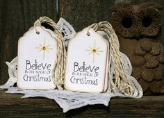 Christmas Gift Tags Set of 10 Holiday gift tags by designstudioL