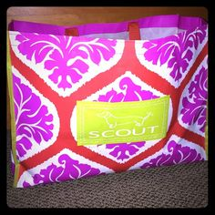 SCOUT Bag never used, pink orange, and lime green SCOUT bag! SCOUT Bags Totes