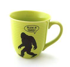 Bigfoot  Yeti   Abominable Snowman mug  Believe in by LennyMud