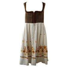 Floral Embroidery Linen dresses