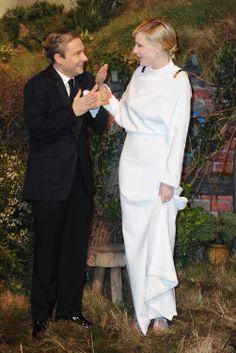 Martin Freeman and Cate Blanchett Premiere The Hobbit in London