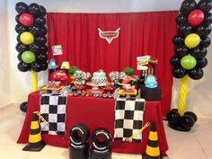 Rayo Mcqueen de Cars decoración cumpleaños de Rayo Mcqueen de Cars