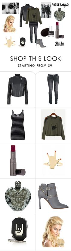 """Rocker Style"" by emily-dickson-1 ❤ liked on Polyvore featuring Reiss, Rock Rebel, BKE, Chantecaille, Vera Wang, Vans, Valentino and Les Petits Joueurs"