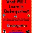What will I learn in Kindergarten and I Can Statement Progress Report