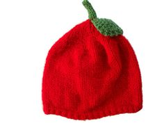 Red Apple Hat. Sizes baby, kid & adult size, £8.99