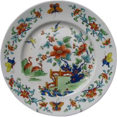 Chamberlain's Worcester Plate, Chinoiserie, Antique c 1816 English Porcelain