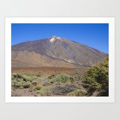 Teide National Park, Tenerife, Canary Islands with a great view of Mount Teide volcano - Art Print by AngieC - (affiliate link) Tenerife, Volcano Pictures, Art Photography, Travel Photography, Canary Islands, Great View, Photographic Prints, Canvas Wall Art, Fine Art America